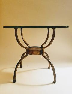 French Gilt Wrought Iron End Table France 1970s - 1180576