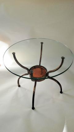 French Gilt Wrought Iron End Table France 1970s - 1180577