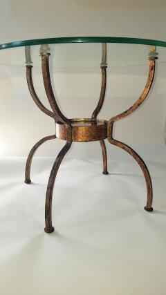 French Gilt Wrought Iron End Table France 1970s - 1180579