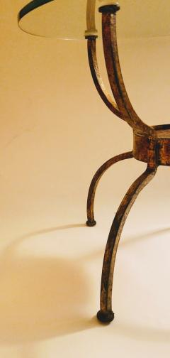 French Gilt Wrought Iron End Table France 1970s - 1180583