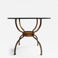 French Gilt Wrought Iron End Table France 1970s - 1180960