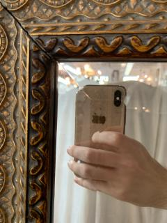 French Handcarved Giltwood Framed Mirror with Bevelled Glass - 1592687