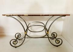 French Iron and Marble Top Console - 1148830