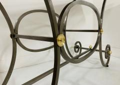 French Iron and Marble Top Console - 1148831