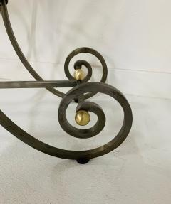 French Iron and Marble Top Console - 1148833