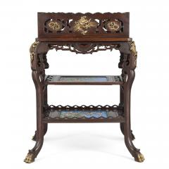 French Japonisme style gilt bronze and faience standing jardini re - 1569854