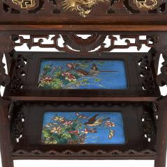 French Japonisme style gilt bronze and faience standing jardini re - 1569855