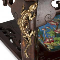 French Japonisme style gilt bronze and faience standing jardini re - 1569859