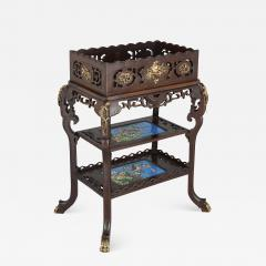 French Japonisme style gilt bronze and faience standing jardini re - 1572703