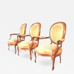 French Louis XV Armchair Wooden Fram - 1611753