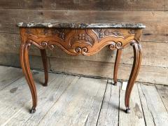 French Louis XV Console Table Marble Top 18th Century - 1040247