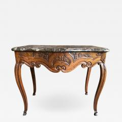 French Louis XV Console Table Marble Top 18th Century - 1040371