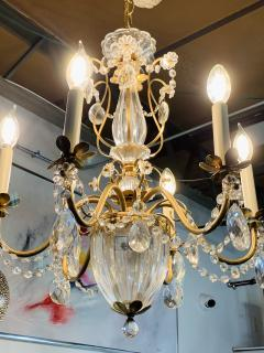 French Louis XV Style Brass and Crystal Chandelier - 1639871