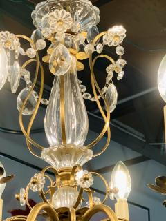 French Louis XV Style Brass and Crystal Chandelier - 1662581