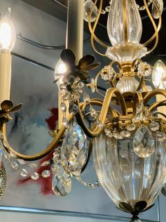 French Louis XV Style Brass and Crystal Chandelier - 1662582