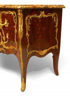 French Louis XV Style Inlaid Parquetry Commode - 741192