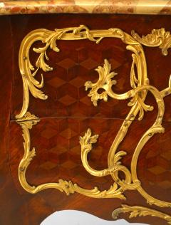 French Louis XV Style Inlaid Parquetry Commode - 741193