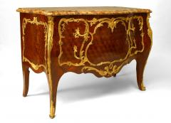 French Louis XV Style Inlaid Parquetry Commode - 741194