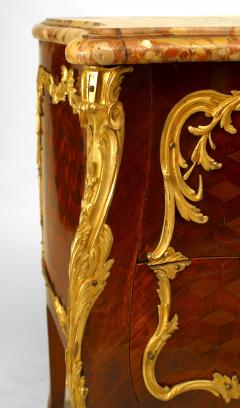French Louis XV Style Inlaid Parquetry Commode - 741195