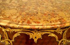 French Louis XV Style Inlaid Parquetry Commode - 741198