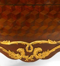 French Louis XV Style Inlaid Parquetry Commode - 741201