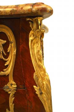 French Louis XV Style Inlaid Parquetry Commode - 741202