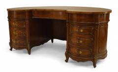 French Louis XV Walnut Kidney Kneehole Desk - 1429368