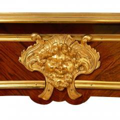 French Louis XV style gilt bronze mounted kingwood writing desk - 1443581
