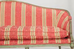 French Louis XVI Period Antique Green Painted Sofa Canap Settee 18th Century - 1119235
