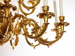 French Louis XVI Style 24 Light Bronze Chandelier - 1704768