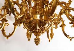 French Louis XVI Style 24 Light Bronze Chandelier - 1704770