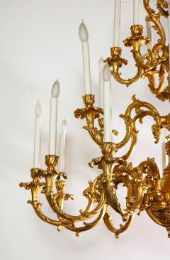 French Louis XVI Style 24 Light Bronze Chandelier - 1704771