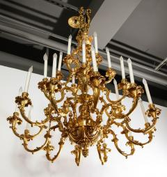 French Louis XVI Style 24 Light Bronze Chandelier - 1704773