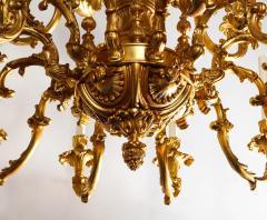 French Louis XVI Style 24 Light Bronze Chandelier - 1704777