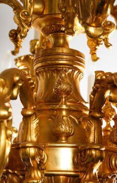 French Louis XVI Style 24 Light Bronze Chandelier - 1704783