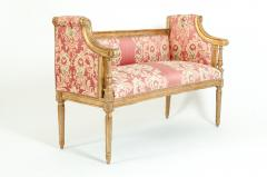 French Louis XVI Style Giltwood Frame Settee - 1125322