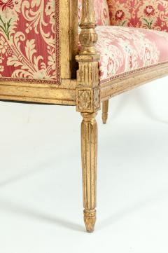 French Louis XVI Style Giltwood Frame Settee - 1125324