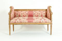 French Louis XVI Style Giltwood Frame Settee - 1125327