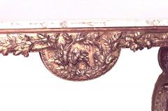 French Louis XVI Style Giltwood and Marble Top Console Table - 1428689