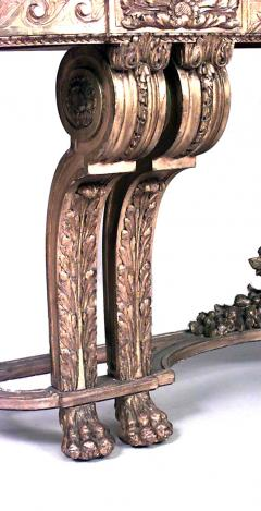French Louis XVI Style Giltwood and Marble Top Console Table - 1428690