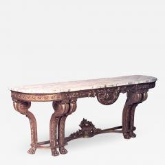 French Louis XVI Style Giltwood and Marble Top Console Table - 1430532