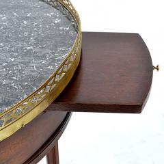 French Louis XVI Style Mahogany Marble Top Bouillotte Table - 169671