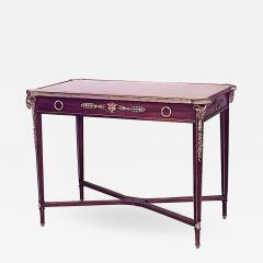 French Louis XVI Style Mahogany Table Desk - 1431079