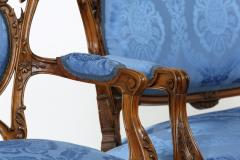 French Mahogany Framed Seating Two Piece Set - 1334580