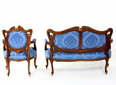 French Mahogany Framed Seating Two Piece Set - 1334581