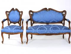 French Mahogany Framed Seating Two Piece Set - 1334588
