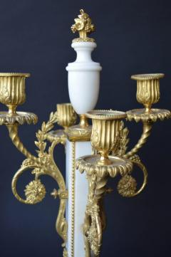 French Marble and Gilded Bronze Clock Set - 192778