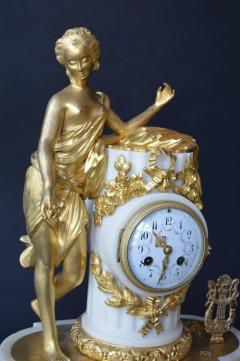 French Marble and Gilded Bronze Clock Set - 192779
