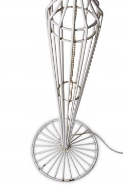 French Metal Floor Lamp Duo in the style of Jean Roy re - 1616715