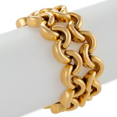 French Mid 20th Century Gold Link Bracelet - 1034487